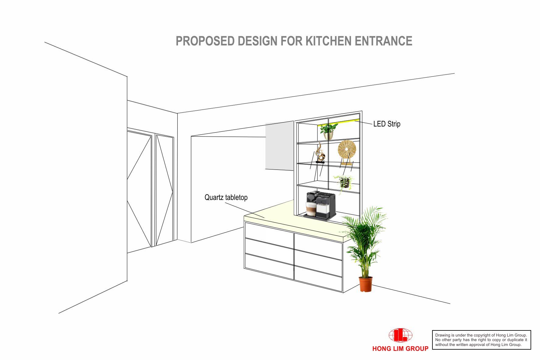 Kitchen Entrance Cabinet