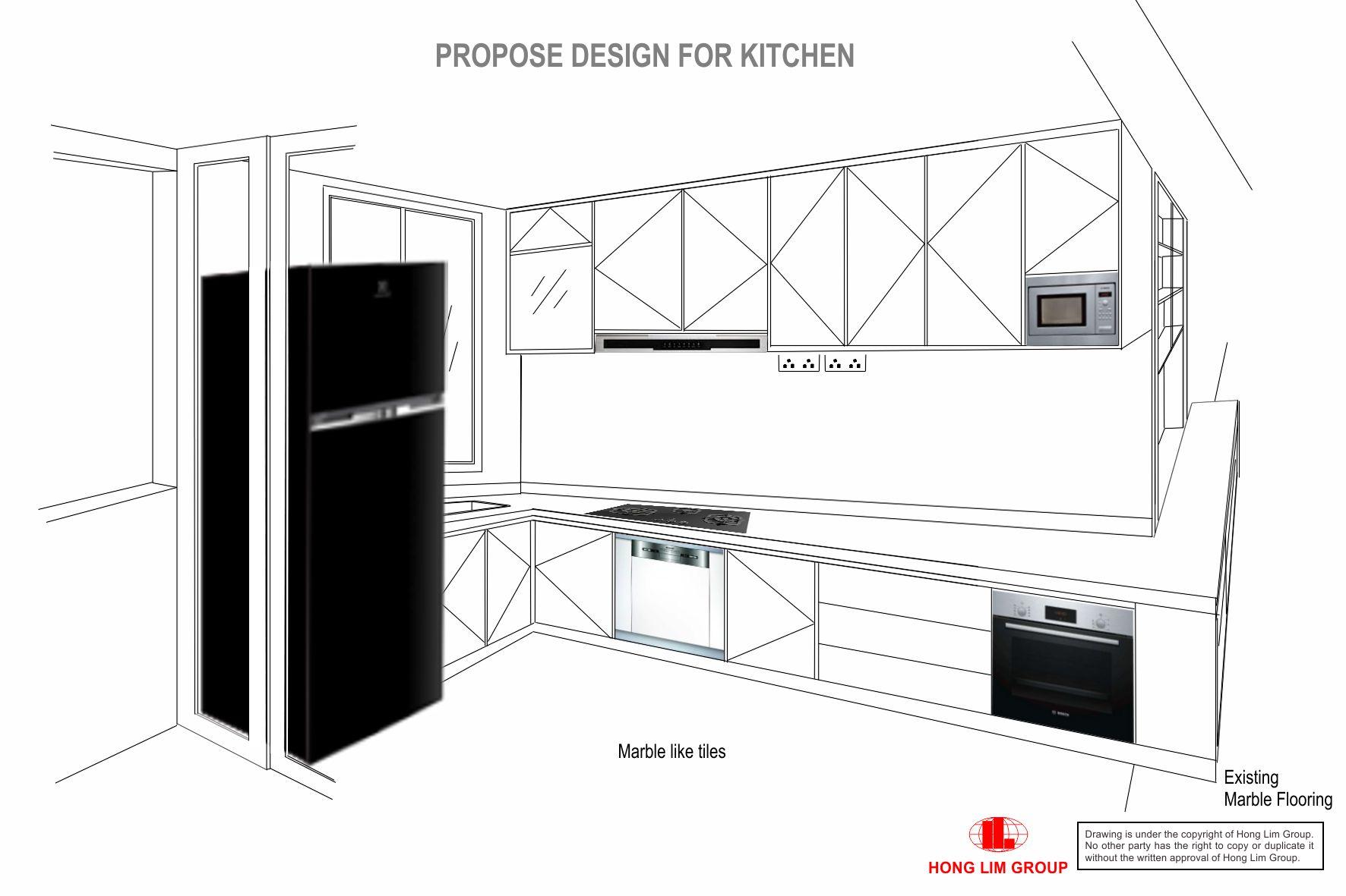 Kitchen double L