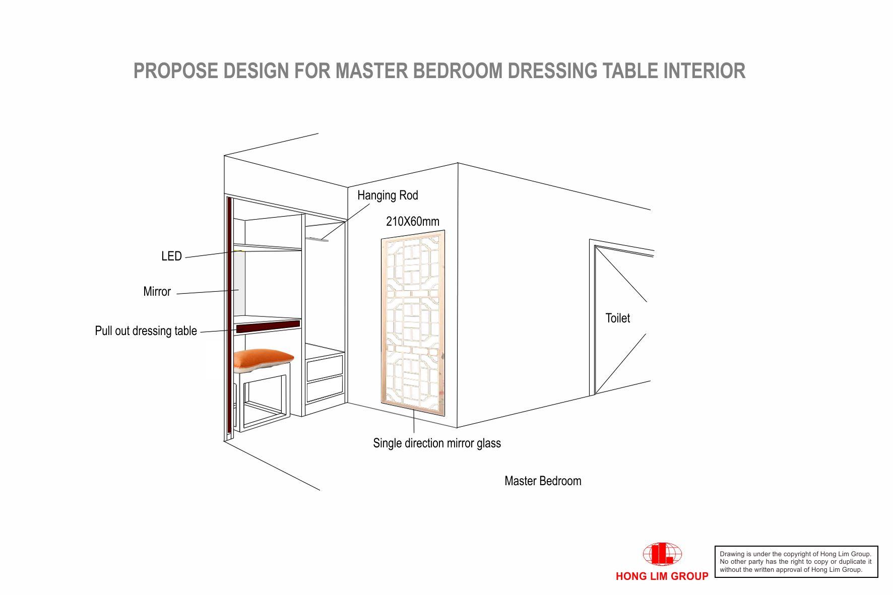 Master Bedroom Dressing Table V2