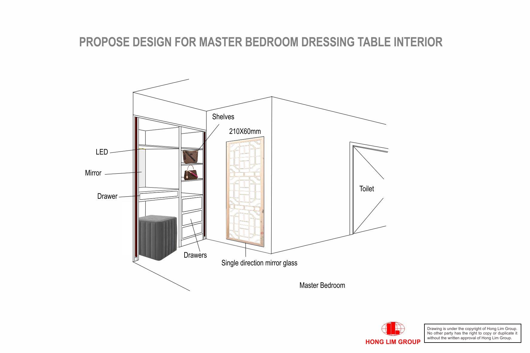 Master Bedroom Dressing Table V3