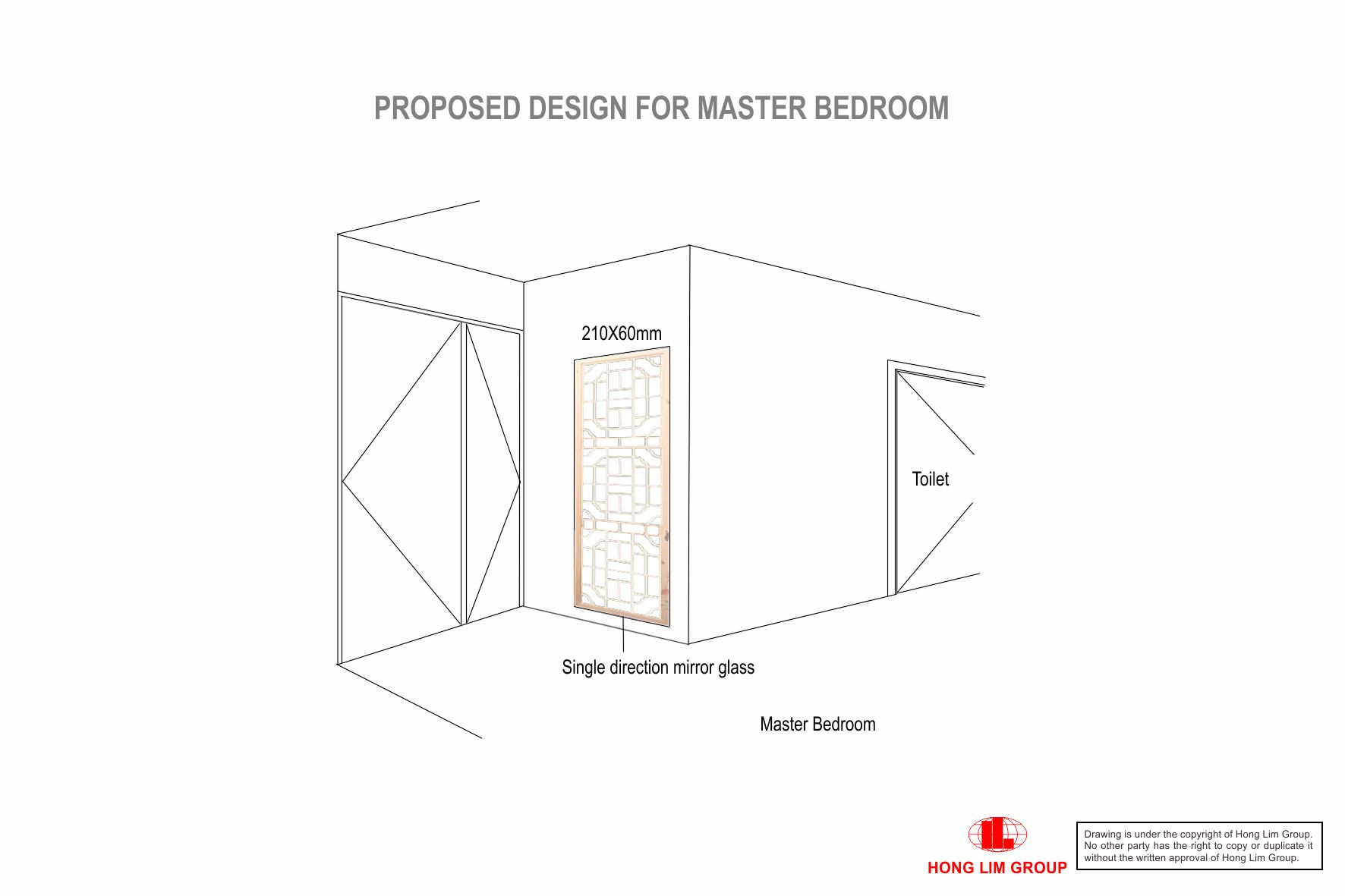 Master Bedroom Toilet Glass Panel Amend