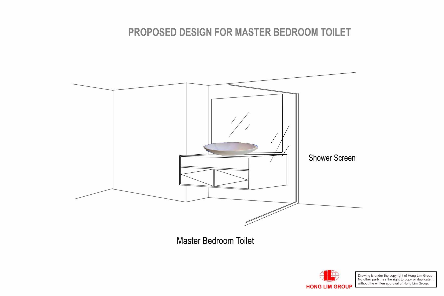 Master BedroomToilet Vanity