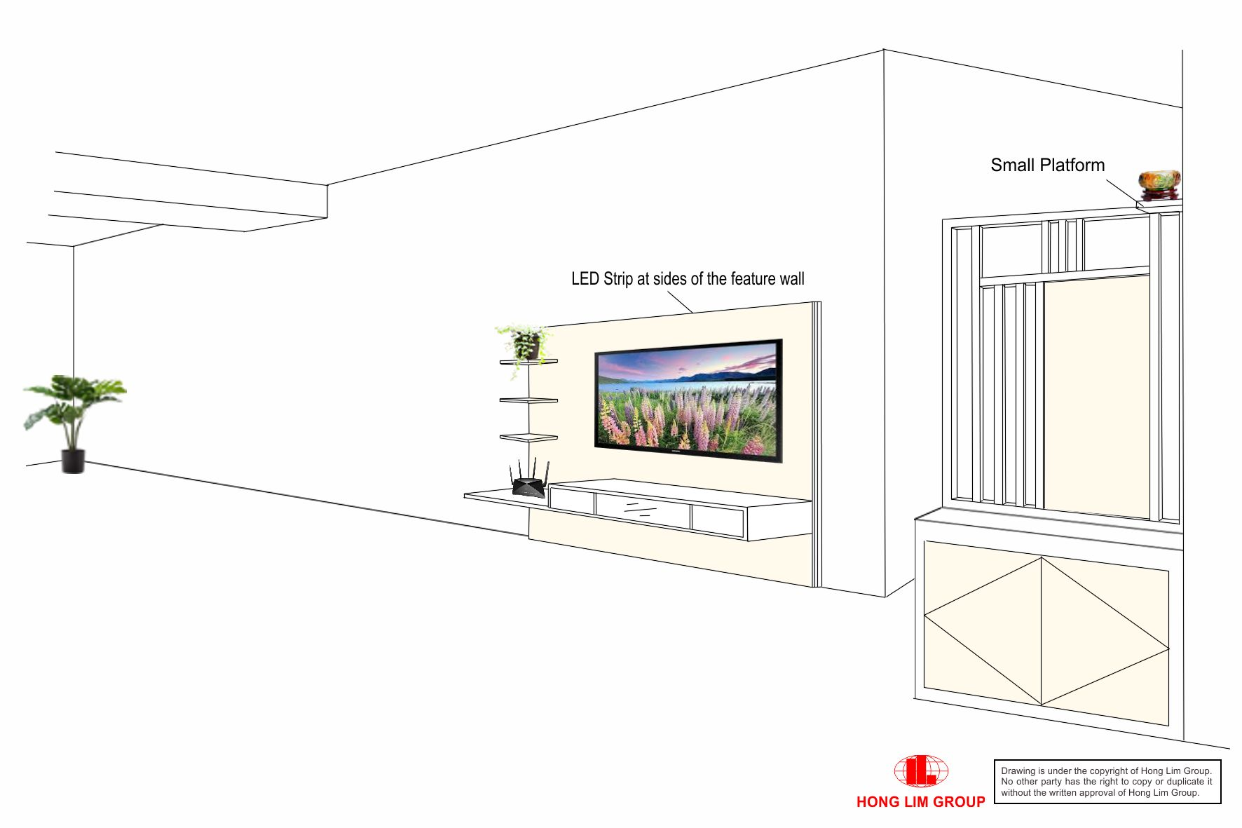 TV Console and Divider Amend 3